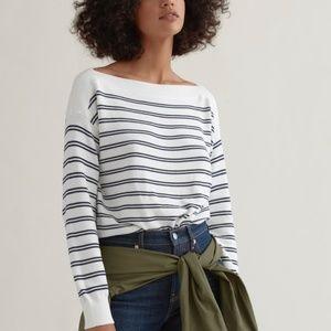 Everlane Square Striped Crew Neck Sweater Medium